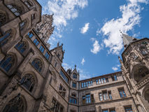 The New Town Hall in city Munich, Germany Stock Photo