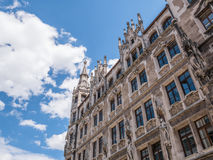 The New Town Hall in city Munich, Germany Royalty Free Stock Photo