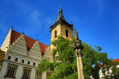 The New Town Hall (Czech: Novom�stská radnice) is the administrative centre of Prague's (medieval) New Town Quarter, or  Royalty Free Stock Image