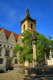 The New Town Hall (Czech: Novom�stská radnice) is the administrative centre of Prague's (medieval) New Town Quarter, or Royalty Free Stock Photos