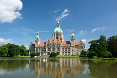 New town hall in Hannover Royalty Free Stock Images