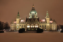New town hall of hannover germany Royalty Free Stock Images