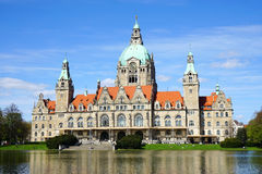 New Town Hall in Hannover Germany Royalty Free Stock Photos