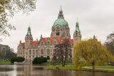 The New Town Hall Hannover. The New Town Hall in Hanover, Germany, is a city hall Stock Photography
