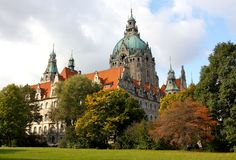The New Town Hall in Hanover, Germany Stock Images
