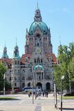 The New Town Hall in Hanover, Germany. Stock Images