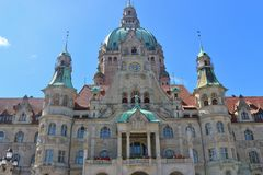 The New Town Hall in Hanover, Germany. Royalty Free Stock Image