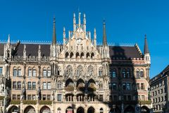 The New Town Hall at Marienplatz in Munich, Bavaria, Germany. The New Town Hall, is a town hall at the northern part of Marienplatz in Munich, Bavaria, Germany royalty free stock photography