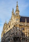 The New Town Hall at Marienplatz in Munich, Bavaria, Germany. The New Town Hall, is a town hall at the northern part of Marienplatz in Munich, Bavaria, Germany royalty free stock photo