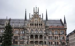 The New Town Hall at Marienplatz in Munich, Bavaria, Germany. The New Town Hall, is a town hall at the northern part of Marienplatz in Munich, Bavaria, Germany stock photo