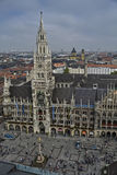 New Town Hall. In Munich, on the Marienplatz square Royalty Free Stock Image