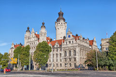 New town hall (Neues Rathaus) in Leipzig Stock Image