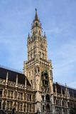 The New Town Hall at Marienplatz in Munich, Bavaria, Germany. The New Town Hall, is a town hall at the northern part of Marienplatz in Munich, Bavaria, Germany stock image