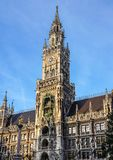 The New Town Hall at Marienplatz in Munich, Bavaria, Germany. The New Town Hall, is a town hall at the northern part of Marienplatz in Munich, Bavaria, Germany royalty free stock images