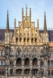 The New Town Hall at Marienplatz in Munich, Bavaria, Germany. The New Town Hall, is a town hall at the northern part of Marienplatz in Munich, Bavaria, Germany stock images