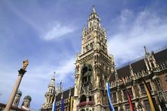 New Town Hall Rathaus in Marienplatz, Munich Stock Image