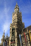 New Town Hall Rathaus in Marienplatz Royalty Free Stock Images