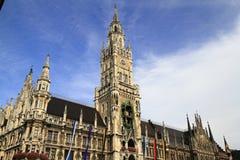New Town Hall Rathaus in Marienplatz Royalty Free Stock Photos