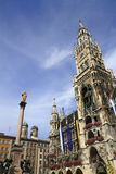 New Town Hall Rathaus in Marienplatz Royalty Free Stock Photography