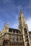 New Town Hall Rathaus in Marienplatz Stock Photo