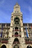 New Town Hall Rathaus in Marienplatz Stock Photos