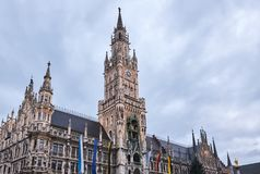 New Town Hall. Rathaus on Marienplatz square in Munich, Germany Royalty Free Stock Image