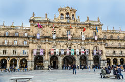 New Town Hall of Salamanca, Spain. Salamanca, Spain - March 21, 2016: Town Hall of Salamanca, a city in western Spain. It has a great historical and cultural Stock Images