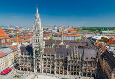 The New Town Hall is a town hall at the northern part of Marienplatz in Munich, Bavaria. Germany Royalty Free Stock Photo