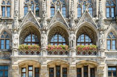 The New Town Hall is a town hall at the northern part of Marienplatz in Munich, Bavaria. Germany Stock Images