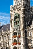 The New Town Hall at Marienplatz in Munich, Bavaria, Germany. The New Town Hall, is a town hall at the northern part of Marienplatz in Munich, Bavaria, Germany royalty free stock image