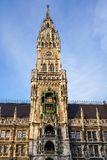 The New Town Hall at Marienplatz in Munich, Bavaria, Germany. The New Town Hall, is a town hall at the northern part of Marienplatz in Munich, Bavaria, Germany royalty free stock photos