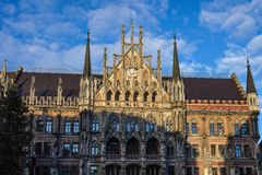 The New Town Hall at Marienplatz in Munich, Bavaria, Germany. The New Town Hall, is a town hall at the northern part of Marienplatz in Munich, Bavaria, Germany stock photos