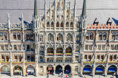 The New Town Hall is a town hall at the northern part of Marienplatz in Munich. MUNICH, GERMANY - JUNE 7, 2016: The New Town Hall is a town hall at the northern Stock Image