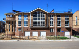 New town house. Modern residential area. Omsk. Russia Stock Photography