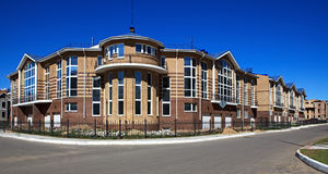 New town house. Modern residential area. Omsk. Russia Royalty Free Stock Images