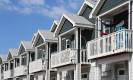 New Town houses Stock Photography
