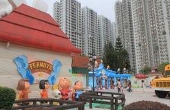 New Town Plaza shopping mall Hong Kong. People visit New Town Plaza shopping mall Snoopys World in Hong Kong Stock Photography