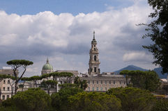 The New Town of Pompeii Italy Royalty Free Stock Photos