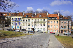 New Town in Warsaw. Classic residential architecture of the New Town (New Warsaw) in Warsaw, Poland royalty free stock photos