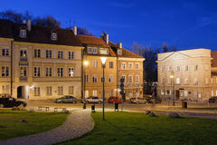 New Town in Warsaw at Night Royalty Free Stock Images