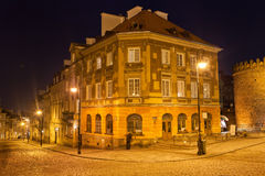 New Town in Warsaw at Night Royalty Free Stock Image