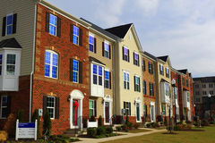 New Townhouses Stock Photos