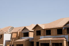 New townhome construction Stock Photos