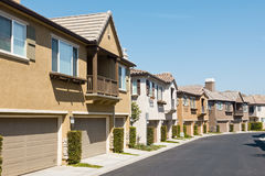 New Townhomes Stock Image