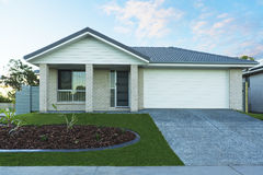 New townhouse. New Australian suburban townhouse front Stock Image