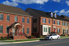 New Townhouses Stock Photo