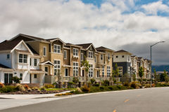 New Townhouses Stock Image