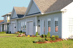 New Townhouses. Row of new townhouses stock photos