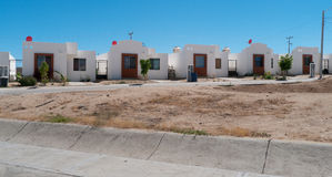 New townhouses in Mexico. New townhouses in Baja Mexico. While significantly smaller than their US counterparts the trend is clear and represents a big  progress Royalty Free Stock Photos