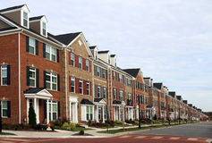 New townhouses Royalty Free Stock Photo